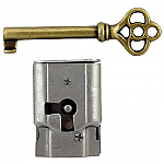 Full Mortise Cabinet and Door Lock with Skeleton Key