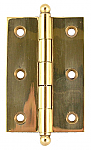 Solid Brass Ball Tipped Butt Hinge