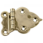 "Nickel 3/8"" Offest Cabinet Hinge Pair"