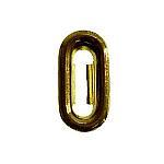 Dozen Stamped Brass Keyhole Insert