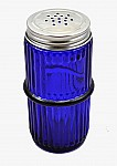Blue Mission Ringed Spice Jar