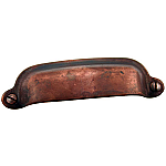 Antique Copper Cast Bin Pull