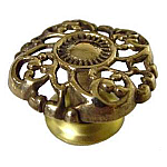 Open Victorian Cast Brass Knob