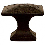 Cast Iron Arts & Crafts Mission Brass Knob