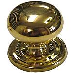Large Bulbous Cast Brass Knob