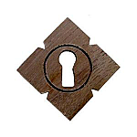 Walnut Victorian Keyhole Cover