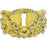 Fancy Stamped Brass Keyhole Cover