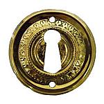 Brass Eastlake Keyhole Escutcheon