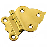"Brass 3/8 "" Offset Cabinet Hinge Pair"