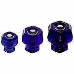 Cobalt Blue Glass Hexagonal Knobs