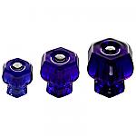 Cobalt Blue Glass Bargain Hexagonal Knobs