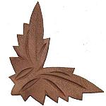 Walnut Frame Corner Ornament