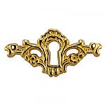 Intricate Cast Brass Keyhole Escutcheon