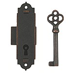 Narrow Door or Case Lock