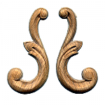Small Scroll Onlay Pair