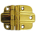 Brass Art Deco Offset Hinge Pair