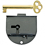 Rounded Half Mortise Lock & Skeleton Key