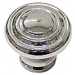Round Art Deco Nickel Knob
