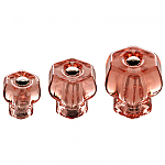 Depression Pink Glass Hexagonal Knobs