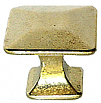 Arts & Crafts Mission Pyramid Brass Knob