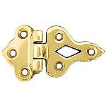 Decorative Brass Offset Ice Box Hinge
