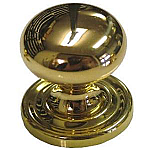 Medium Bulbous Cast Brass Knob