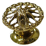 """Spoked"" Victorian Cast Brass Knob"