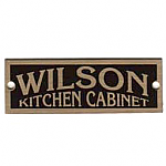 Brass Wilson Cabinet Label - Grand Rapids, MI