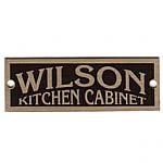 Brass Wilson Cabinet Label - Grand Rapids, MI