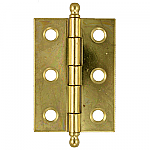 Brass Plated Steel Butt Hinge Pair