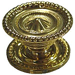 Medium Colonial Revival Style Brass Knob