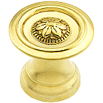 Colonial Revival Decrotive Brass Knob