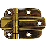 Art Deco Flush Brass Hinge Pair