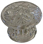 Pressed Glass Flower Drawer Knob