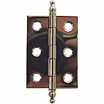 Nickel Butt Hinge Pair with Finials