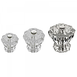 Clear Glass Fluted Knobs