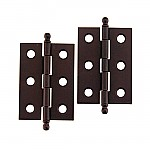 Oil Rubbed  Bronze Plated Steel Butt Hinge Pair
