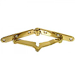 Brass Plated Drop Front Desk Hinge Pair