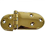 Offset Brass Ice Box Hinge Pair