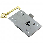 Steel Flush Mount Cabinet Door Lock & Skeleton Key