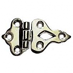 Cast Polished Nickel Offset Ice Box Hinges (Pair)