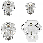 Clear Glass Hexagonal Knobs