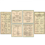 Sellers Door Chart Set of 6