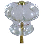 Pressed Glass Daisy Knob