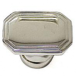 Rectangle Art Deco Nickel Knob