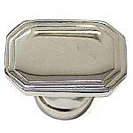 Rectangle Art Deco Nickel Knob