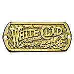 Brass White Clad Ice Box Label