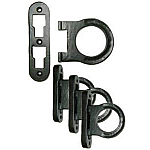 Horseshoe Style Cast Iron Bed Rail Fastener Set