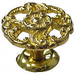 Large Victorian Cast Brass Knob