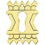 Stamped Brass Eastlake Keyhole Cover